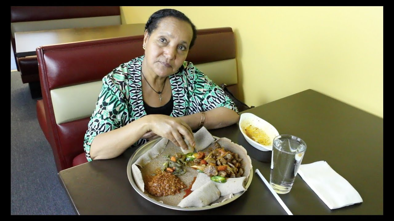 Taking Mom to Ethiopian Restaurant - Mamaye