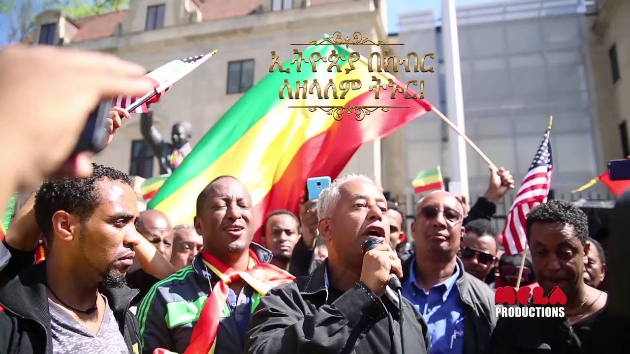 Tamagne Beyene Speech infront of South African Embassy
