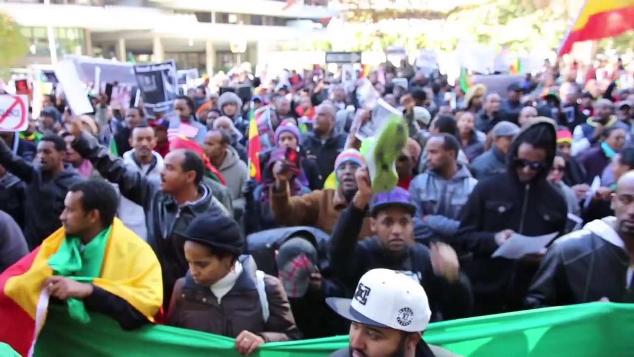 Protest at Saudi Arabia Embassy - Tamagne Beyene
