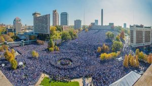Amazing Drone Shot, Kansas City Royals 2015 Parade